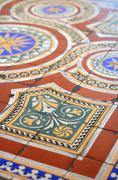 Ornate floor tiles Stock Photos