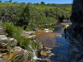 Canyon stream at rio turvo Stock Photos
