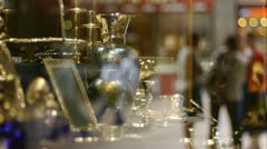 Part of a jewelery shop window display. Stock Footage