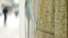 A shop window display of a dress. Stock Footage