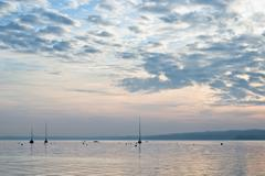 Stock Photo of sunset on lake starnberg
