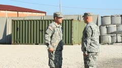 soldiers saluting commander (HD) c - stock footage