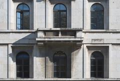 nazi architecture detail - stock photo