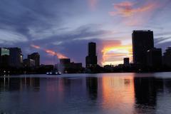 Downtown Orlando, Florida, at Dusk (1) - stock photo