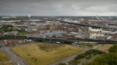 The re-developement area of Eastside in the centre of Birmingham, England. Stock Footage