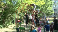 Children play in the kindergarten 2 Stock Footage