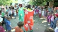 children play in the kindergarten with a clown 3 Footage