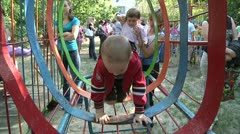 Children play in the kindergarten 3 Stock Footage