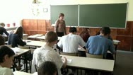 Children in school 8 Stock Footage