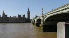 The UK parliament building, the Palace of Westminster. Stock Footage