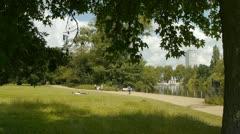 Kensington Gardens, London, UK Stock Footage