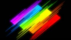 Bright spectrum fills the frame with bands of color. Stock Footage