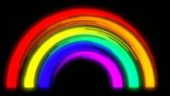 Painterly Rainbow Stock Footage
