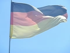 Slow motion, high speed camera, german flag Stock Footage