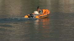inflatable boat 08 e - stock footage