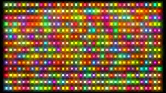 Frame full of glowing colorful lights. Stock Footage