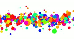 Colored dots grow and spread across the middle of the frame. Stock Footage