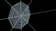 Web site as a spider's web which catches people as they fly past. Stock Footage
