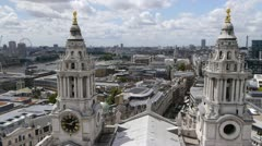 Looking west from the dome of Saint Paul's Cathedral. Stock Footage