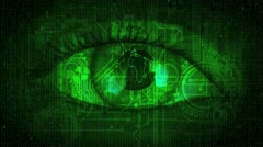 Matrix Global Eye - Green - stock footage