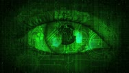 Matrix Global Eye - Green Stock Footage