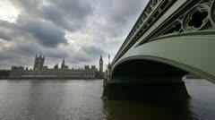 Westminster bridge. Stock Footage