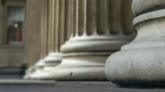 The pillared entrance to the British Museum in London. Stock Footage