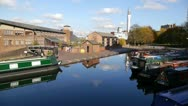 Stock Video Footage of 90 Farmer's Bridge Top Lock and Cambrian Wharf, Birmingham.