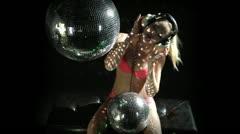 Sexy gogo dancer dancing disco Stock Footage