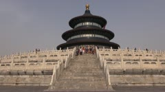 Fast motion of The Temple of Heaven, Beijing, China Stock Footage
