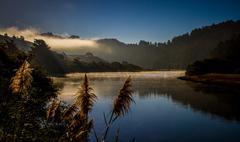 Russian River Mist Sonoma California  Stock Photos