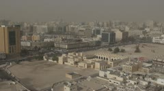 Timelapse Fast motion of The State Mosque of Qatar and Doha city Stock Footage