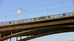 High road bridge Stock Footage