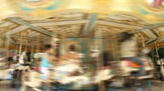 Time lapse of classic children's merry-go-round Stock Footage