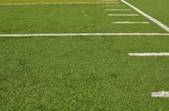 Sideline of a football field Stock Photos