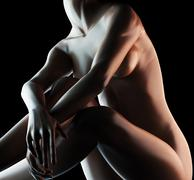Sexy nude woman Stock Illustration