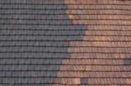 Stock Photo of black and red tiled roof