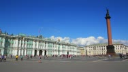 Stock Video Footage of Hermitage and Palace Square in St. Petersburg