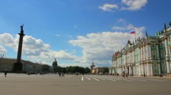 Hermitage and Palace Square in St. Petersburg - timelapse Stock Footage
