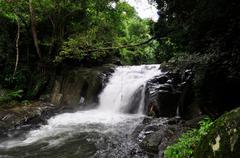 Pala-U Waterfall level 4 - stock photo