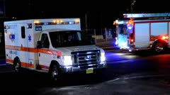 Ambulance Drive By Stock Footage