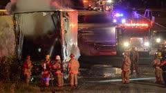 Firemen on the scene 02 Stock Footage