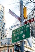 Crossroad of 5 ave and 86 east street in new-york - museum mile Stock Photos