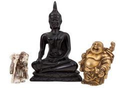Statuettes of gods or wise men Stock Photos