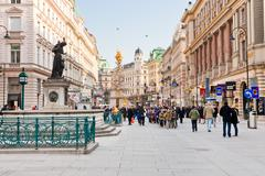 Stock Photo of graben, main historical street in the center of old vienna