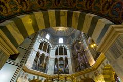 interior of aachen cathedral - stock photo