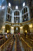 interior of aachen cathedral, germany - stock photo