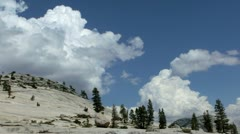 Yosemite 05 Timelapse Clouds Tioga Road Stock Footage