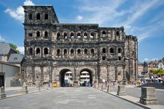view on porta nigra in trier, germay - stock photo