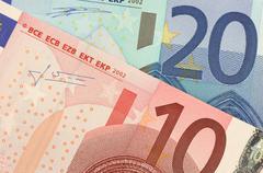 Stock Photo of Euro Banknotes